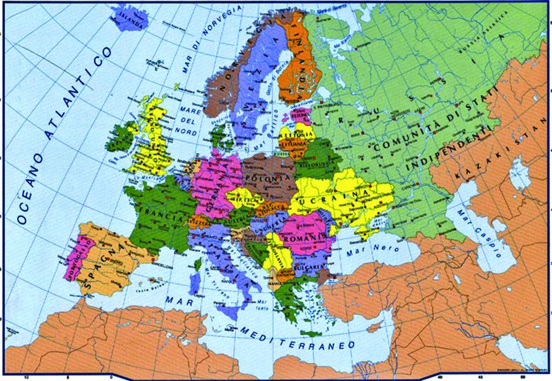 Cartina Politica Europa Pdf.Mappa Muta Europa Politica Pdf